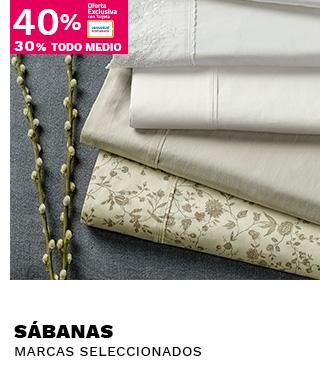 HASTA 40/30 SABANAS, PRODUCTOS SELECCIONADOS