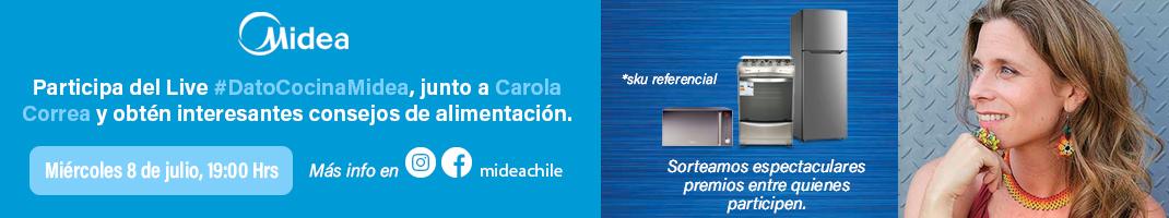 Participa del Live #DatoCocinaMidea, junto a Carola Correa y obtén interesantes consejos de alimentación.