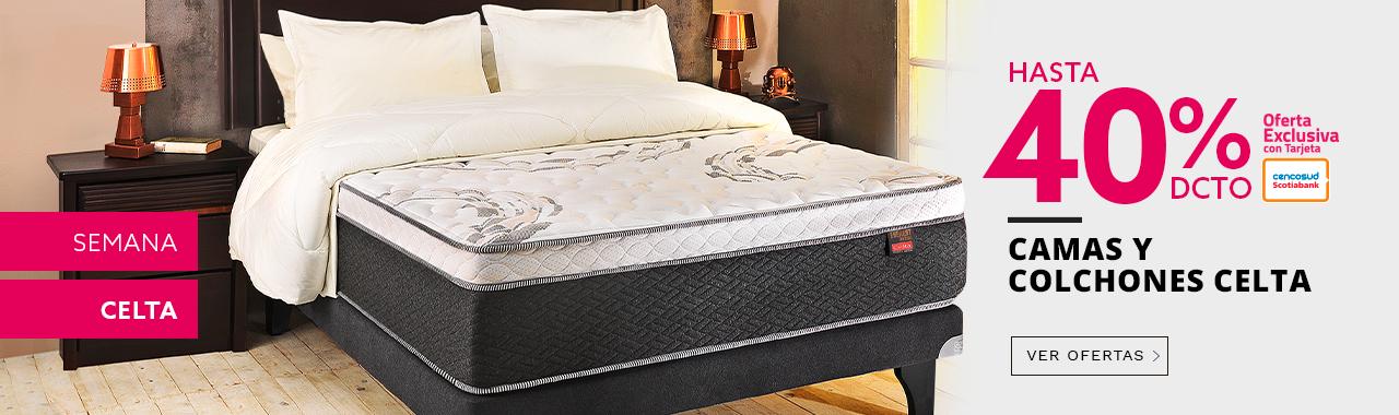 Semana Celta hasta 40 por ciento de descuento en camas y colchones Celta