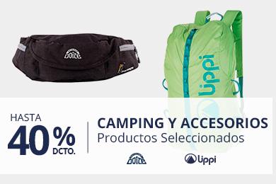 Hasta 40% en Camping y Accesorios. Productos Seleccionados