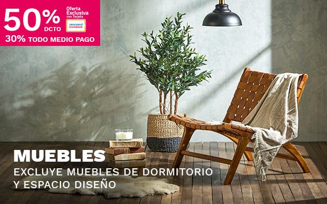 50/30 MUEBLES. EXCLUYE MUEBLES DORMITORIO Y ESPACIO DISEÑO