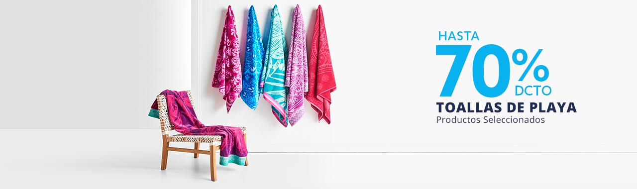 Hasta 70 por ciento todo medio en toallas de playa