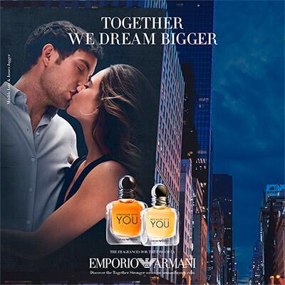 Perfume Giorgio Armani You versión femenina y masculina