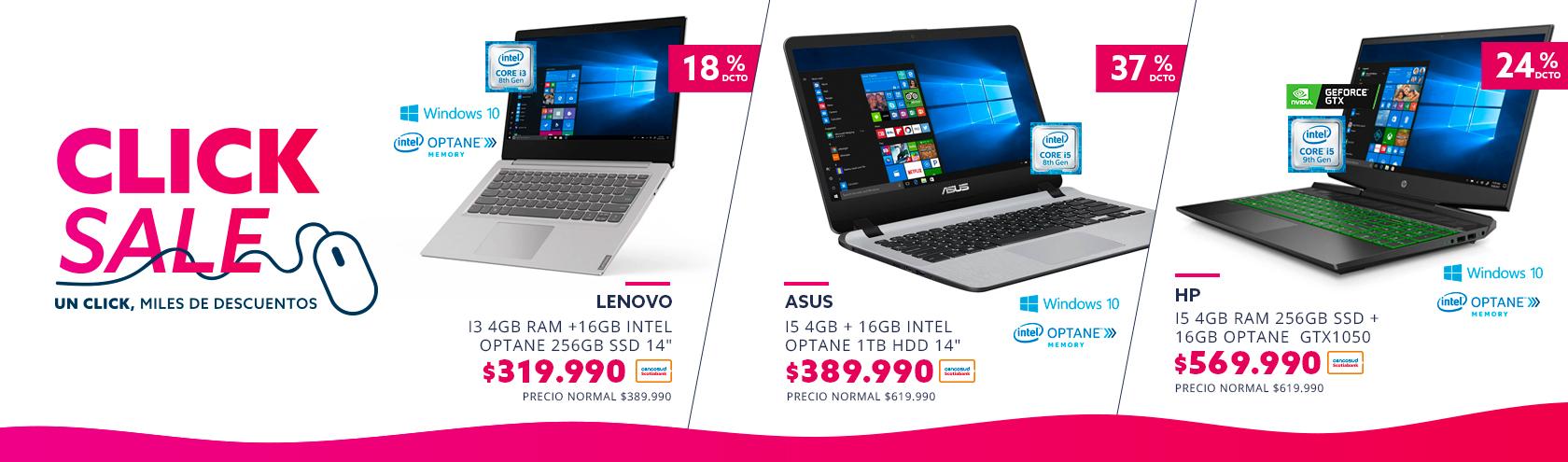 Encuentra los mejores descuentos computadores en Click Sale paris.cl