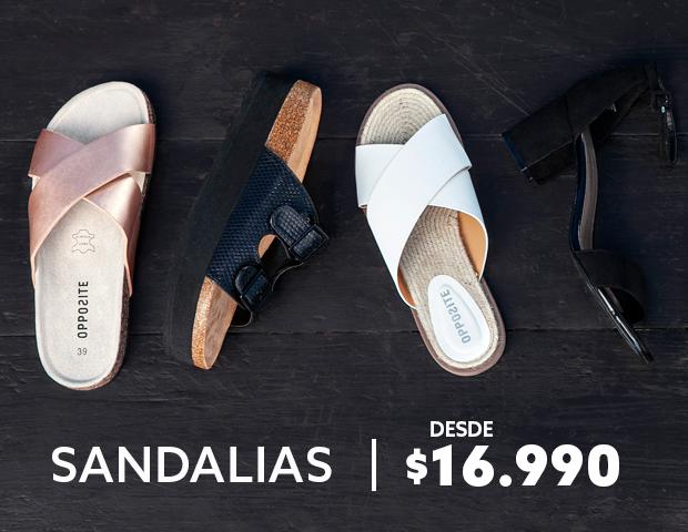 Sandalias desde 16990 pesos