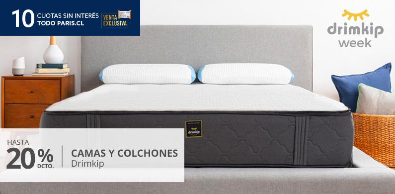Hasta 20 por ciento menos todo medio en camas y colchones drimkip
