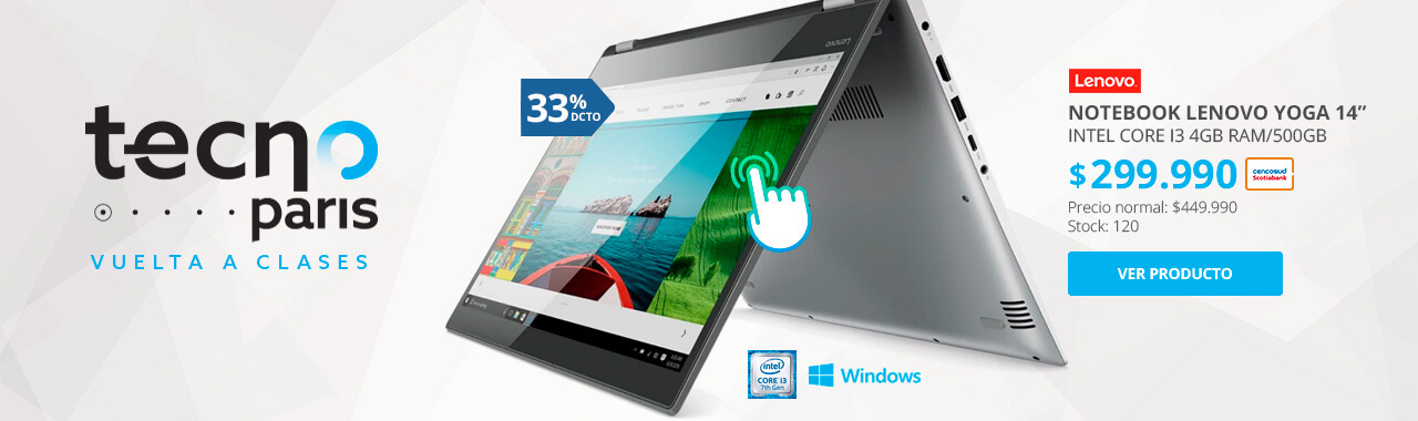Notebook Lenovo Yoga 520 Intel Core I3
