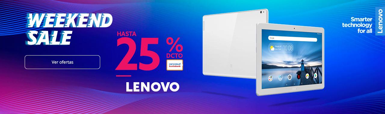 Hasta 25% en Tablet Lenovo