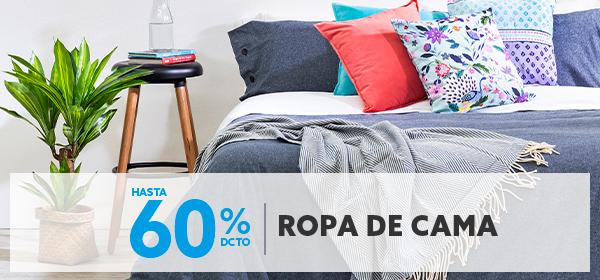Hasta 60% de descuento todo medio en ropa de cama