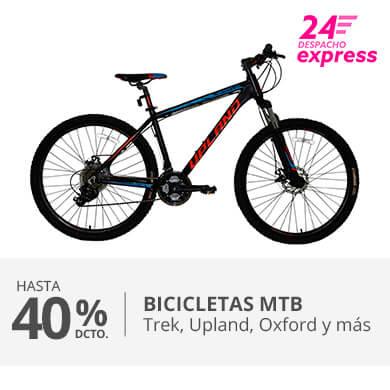 Hasta 40 porciento de descuento en Bicicletas MTB