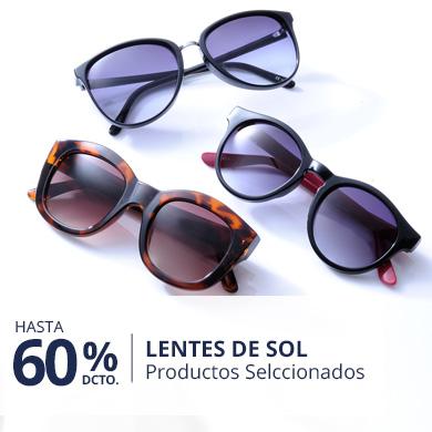 Hasta 60% en lentes de sol de Hombre