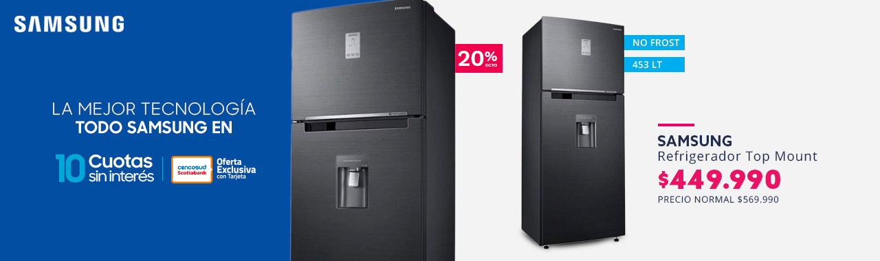 Refrigerador Samsung Top Mount No Frost 452 litros