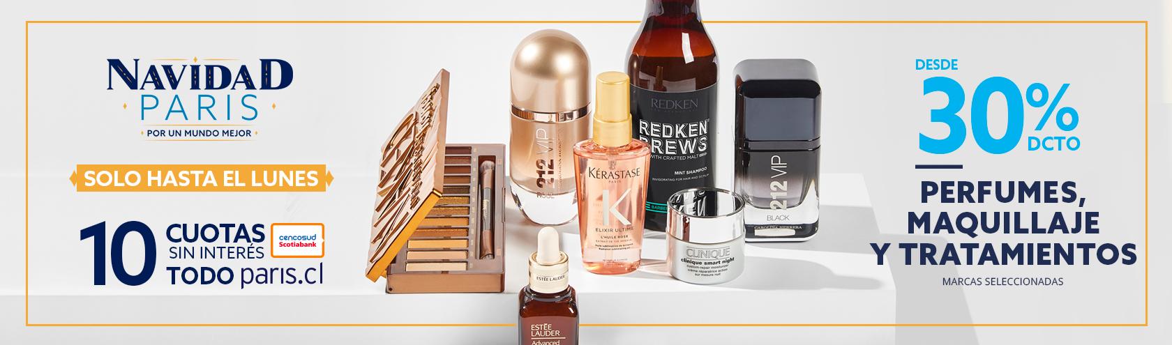 Desde 30 porciento de descuento en perfumes, maquillaje y tratamientos