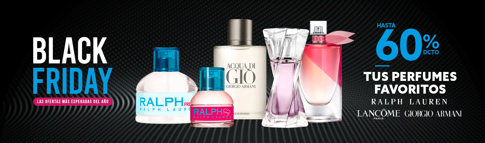 Hasta 60 porciento de descuento Tus Perfumes Favoritos