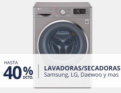 Hastsa 40% en Lavadoras y lavadoras/secadoras