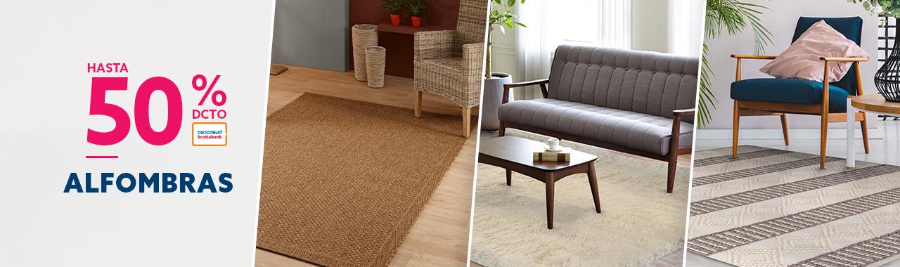 Hasta 70% de descuento con todo medio de pago en alfombras