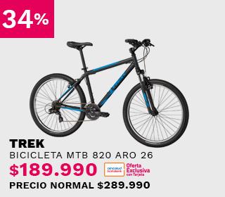 Bicicleta MTB Trek 820 Aro 26