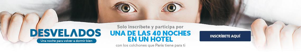 Participa por una de las 40 noches en un Hotel