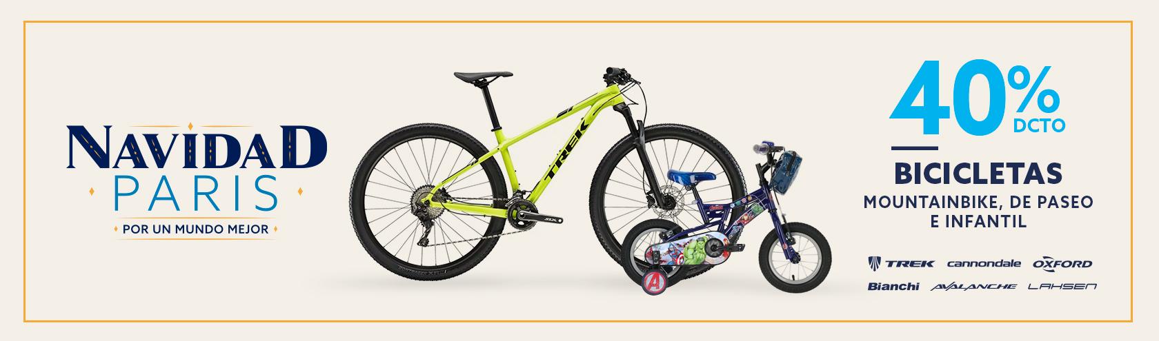 40 porciento de descuento en Bicicletas Mountain Bike, De Paseo e Infantiles