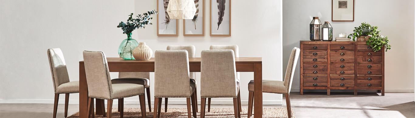 Mesas de comedor, sillas, buffets y otros muebles para comedor