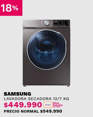 Lavadora Secadora Samsung Frontal 12 / 7 Kg WD12N64FR2X/ZS