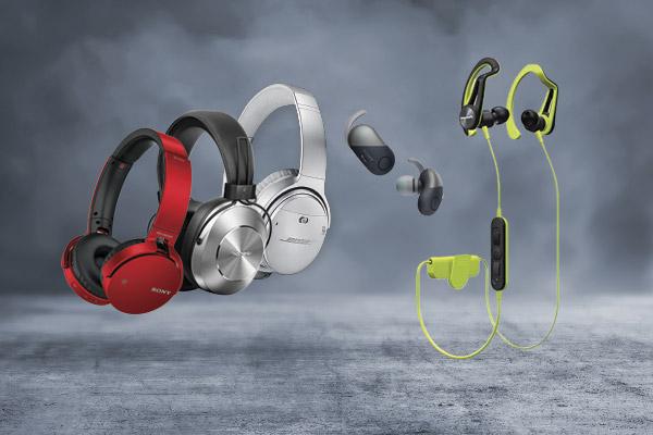 Audífonos deportivos, inalámbricos y over ear de las mejores marcas