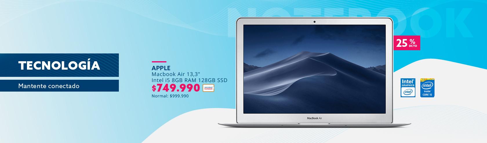 Macbook Air 13,3 pulgadas a 749.990 pesos con tarjeta cencosud