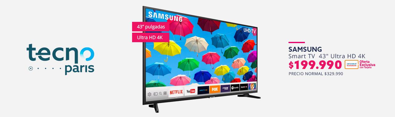 Smart TV 43 pulgadas Ultra HD 4K