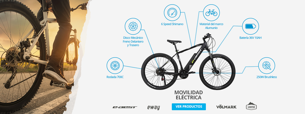 Bicicleta Movilidad Electrica. Marcas Best, Volmark, Eway, Movement, Ihotse y más
