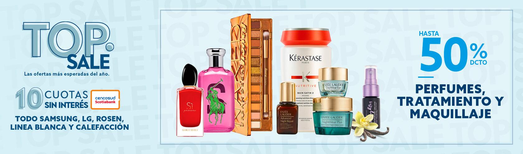 Hasta 50% de descuento en Perfumes, Tratamiento y Maquillaje