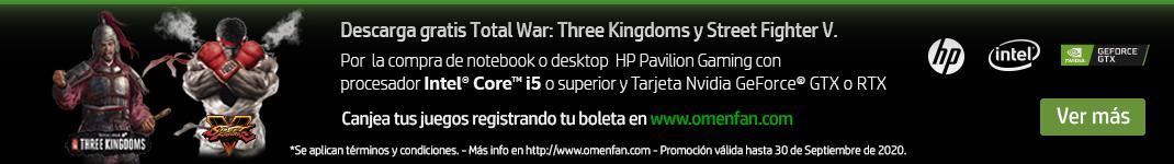 Descarga gratis Total War: Three Kingdoms y Street Fighter V