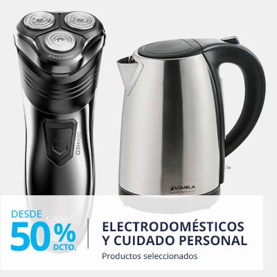 Hasta 50% descuento en electrodomésticos y cuidado personal marcas seleccionadas