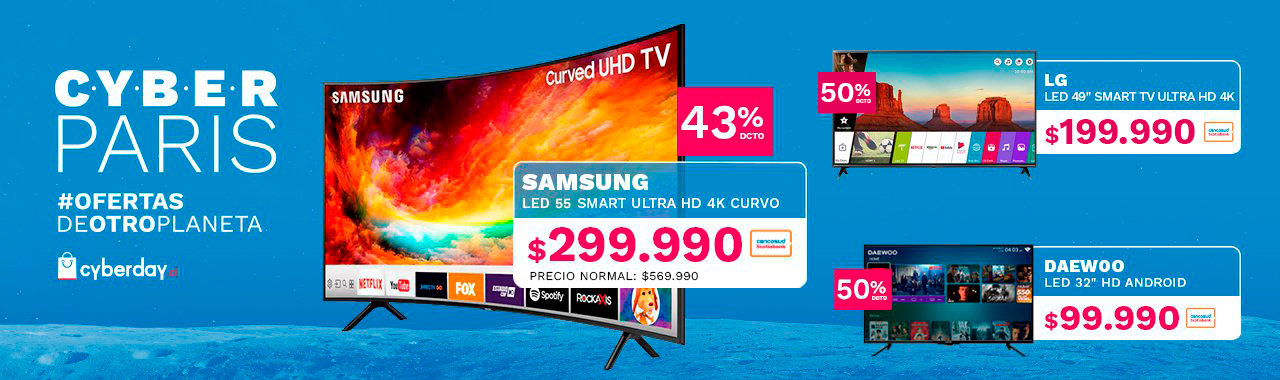 LED 50 SAMSUNG Smart TV Ultra HD 4k a $229.990