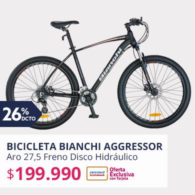 Bicicleta Bianchi MTB Aggressor Aro 27,5 Freno Disco Hidráulico