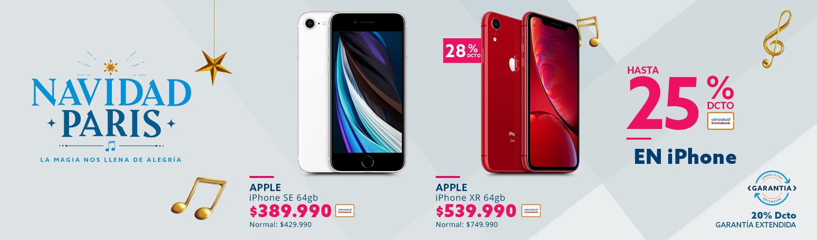 iPhone SE 64gb a $399.990